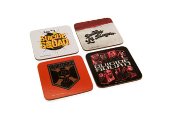 Suicide Squad Coaster Set (Pack Of 4) (Multicoloured) (One Size)