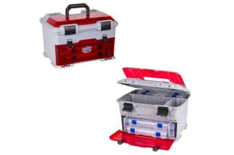 Flambeau T5 Ike Multiloader Tackle Box With 6 Tackle Trays and Zerust Dividers