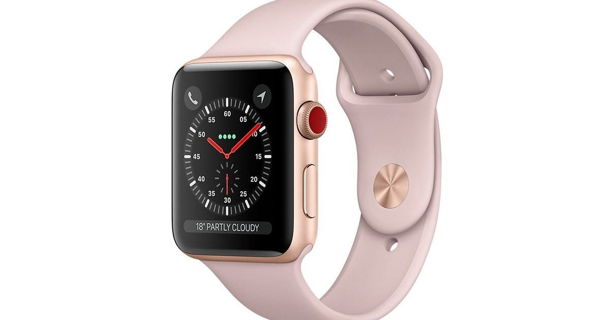 Dick Smith Apple Watch Series 3 Gold 38mm Pink Sand