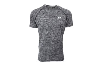 Under Armour Men's UA Tech S/S T-Shirt (Black/White, Size XL)