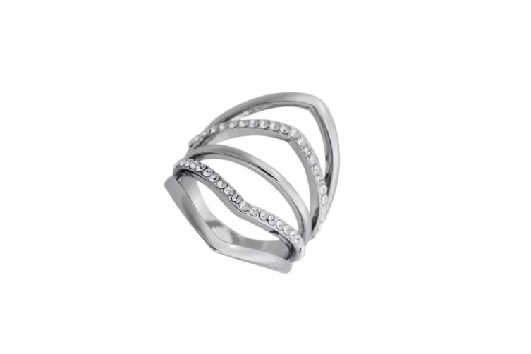 Fable Womens/Ladies 4 Band Fashion Ring (Silver) (17mm)