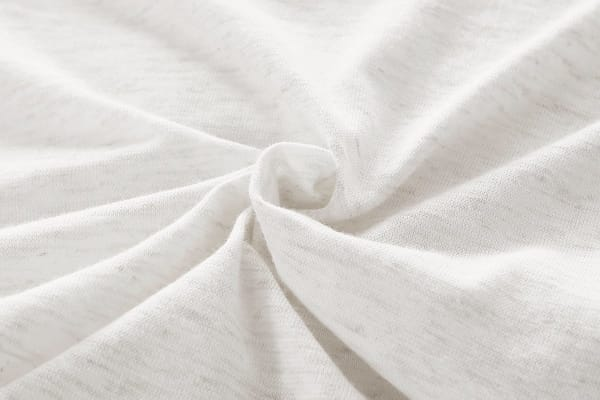 Gioia Casa Jersey Cotton Quilt Cover (Single/White Marble)
