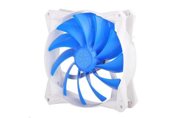 Silverstone FQ141 140x140x25mm /  Mixed blue blade design with white frame
