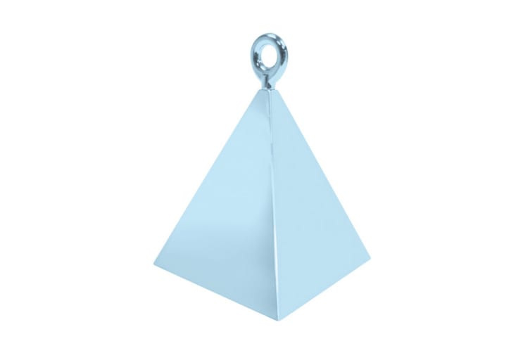 Qualatex Plastic Pyramid Balloon Weight (Pearl Light Blue) (One Size)