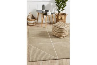 Carter Natural & Ivory Super Soft Contemporary Rug 230x160cm