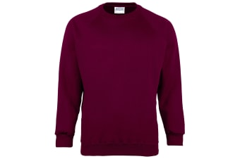 Maddins Kids Unisex Coloursure Crew Neck Sweatshirt / Schoolwear (Burgundy) (24)