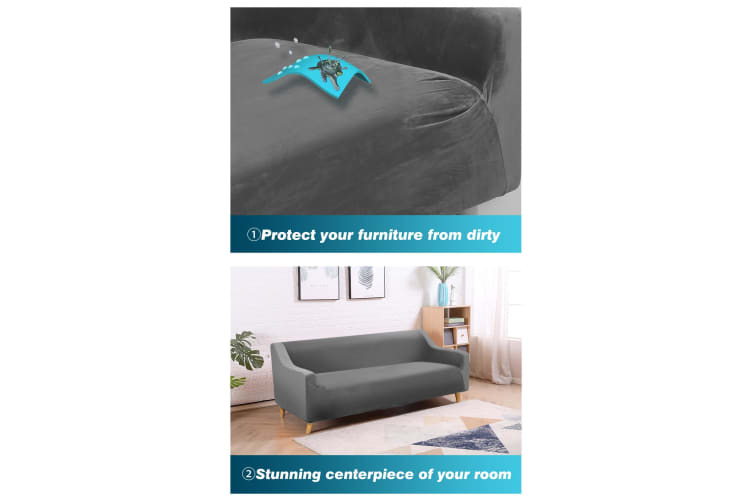 Dreamz Couch High Stretch Sofa Lounge Cover Protector Chair Slipcover 1-4 Seater