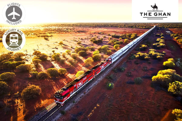 THE GHAN: 6 Day Luxury Rail Package from Adelaide to Darwin Including Flights for Two (Departing PER)