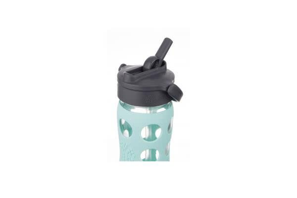 Lifefactory Straw Cap Glass Bottle 475ml Turquoise