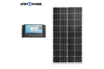 ATEM POWER 12V 200W Mono Solar Panel Kit Caravan Camping Power Battery Home Charging