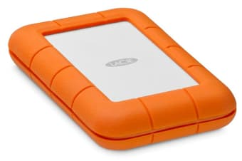 LaCie Rugged Thunderbolt USB-C external hard drive 5000 GB Orange,Silver