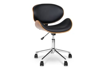 PU Leather Curved Office Chair (Black)