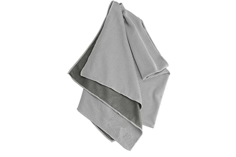 "Cooling Microfiber Towel (40""x12""),for Sport Workout Activities Gray"