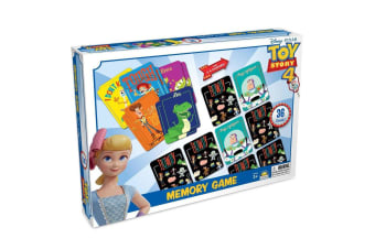 36pc Disney Toy Story 4 Educational Memory Card Game Toys 2-4 Players Kids 3y+