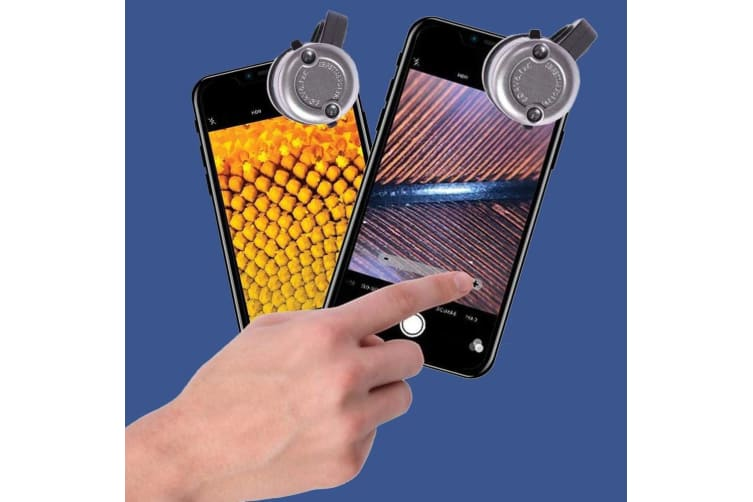 Smart Phone LED Microscope 30x Magnification - Fits All Phones!