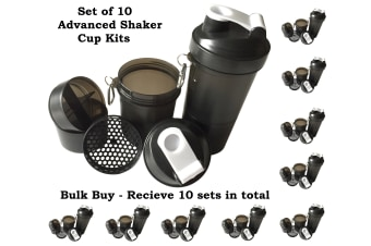 10x Advanced Protein Shaker Cup Sports Drink Bottle