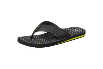 ONeill Mens Imprint Pattern Flip Flops (Black) (9 UK)