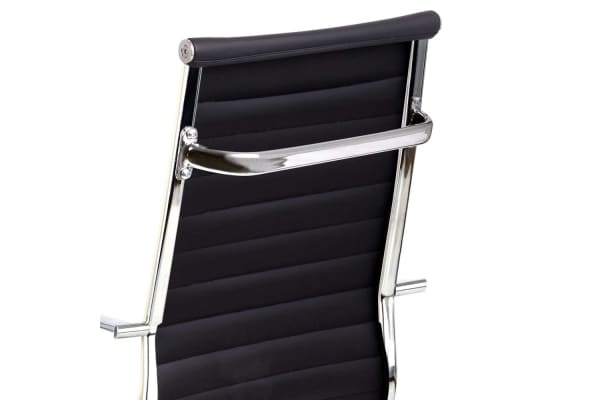 Replica Eames PU Leather High Back Office Chair (Black)