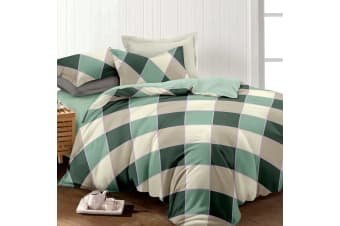 Giselle Bedding Quilt Cover Set King Bed Doona Duvet Reversible Sets Square Diamond Pattern