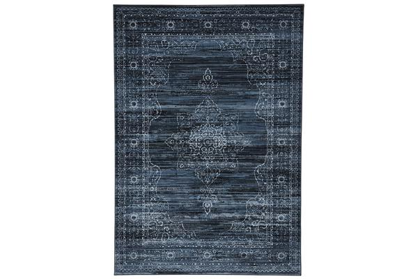Kings Court Designer Rug Blue Green 300X80cm