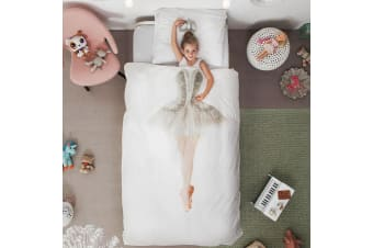 Snurk Ballerina Single Doona Quilt Bedding Cover Set