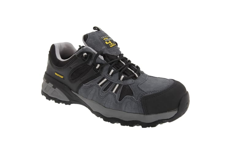 Grafters Mens Fully Composite Non-Metal Safety Trainer Shoes (Grey/Black) (44 EUR)