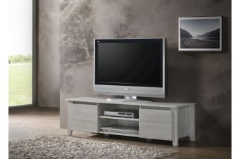 Modern TV Cabinet Entertainment Unit Stand Lowline120cm - White Oak