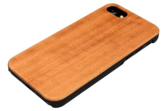 For iPhone 8 7 Case Elegant Cherry Durable Wooden Protective Cover Smooth