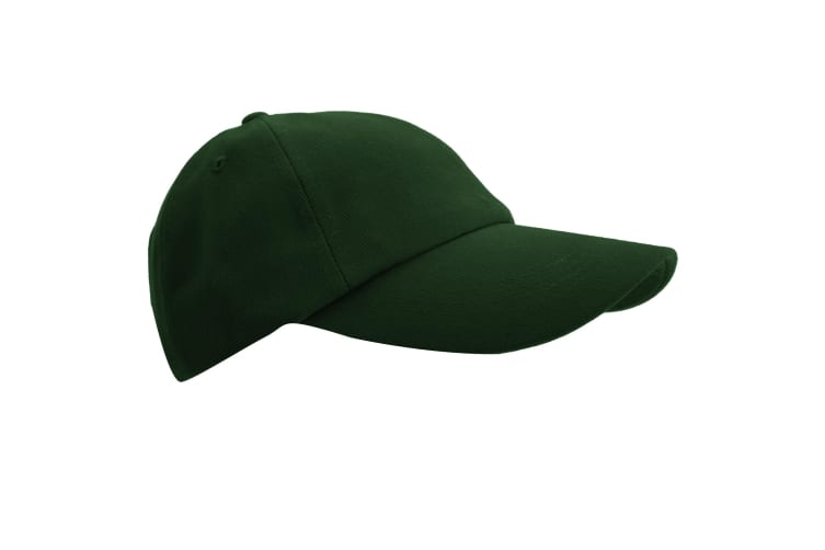 Result Unisex Low Profile Heavy Brushed Cotton Baseball Cap (Pack of 2) (Forest Green) (One Size)
