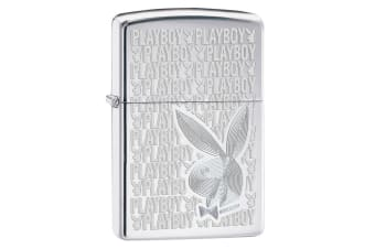 Zippo Playboy Bunny 28545 Genuine High Polish Chrome Pocket Lighter Windproof