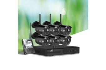 UL Tech  CCTV Wireless Security System 2TB 8CH NVR 1080P 6 Camera Sets