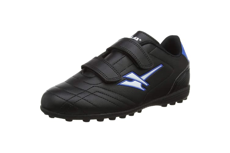 Gola Sport Childrens Boys Magnaz VX Twin Bar Football Training Boots (Black/Blue) (13 Child UK)
