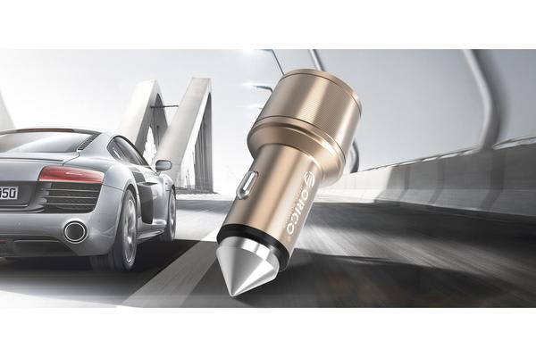 ORICO 15.5W 2 Port USB Car Charger with Safety Hammer