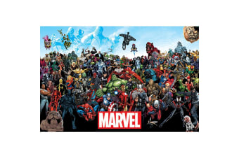 Marvel Universe Comic Poster (Multicoloured) (One Size)