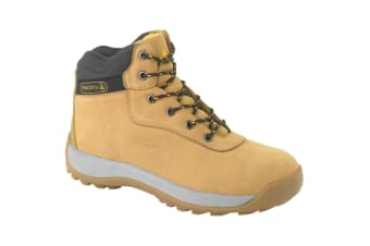 Delta Plus Unisex Nubuck Leather Hiker Safety Boots (Tan)