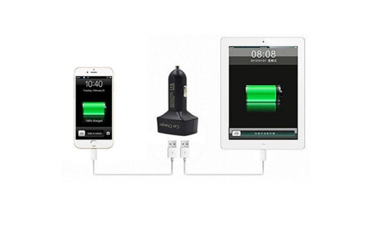 Select Mall Car Charger Dual 2 USB Voltage Current Meter Tester Adapte-BLACK RED