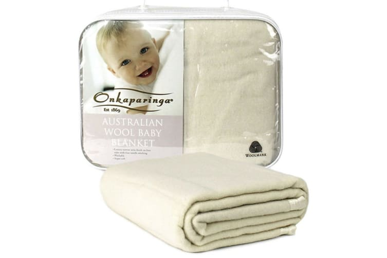 Onkaparinga Wool Baby Blanket (Bassinet, Cream)