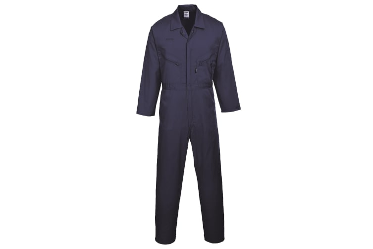 Portwest Mens Liverpool-zip Workwear Coverall (Pack of 2) (Navy) (XL x Tall)
