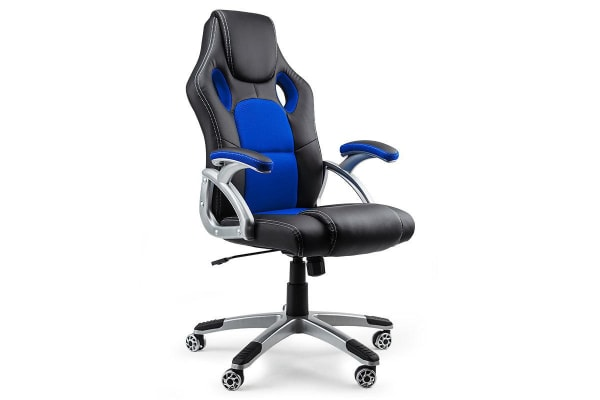 OVERDRIVE Racing Office Chair- Seat Executive Computer Deluxe Gaming PU Leather