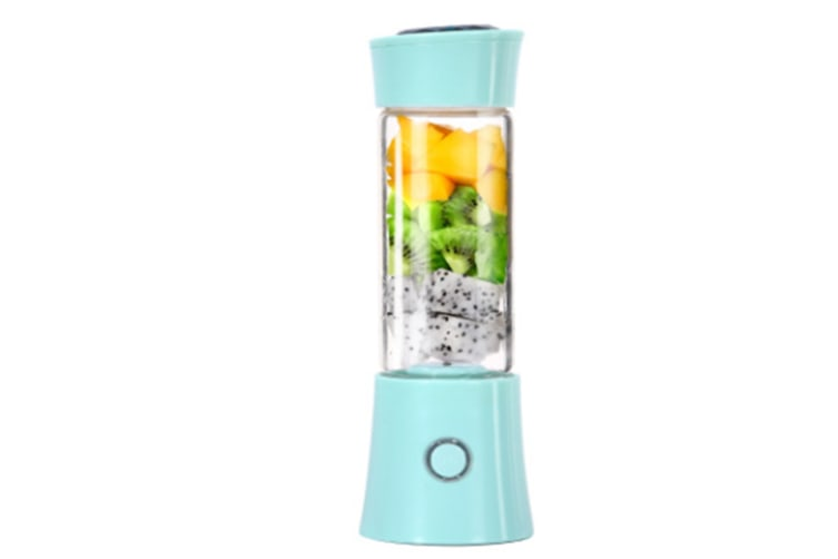 Portable Blender,Household Personal Smoothie Blender480ML Fruit Juice Mixer with USB Rechargeable and 6 PCS Stainless Steel Blades(BLUE)