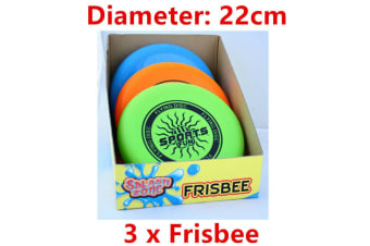 3 x Frisbee Flying Disc 22CM Sports Event Throw Swimming Pool Beach Game Outdoor