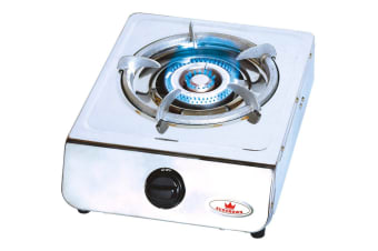 Auscrown Single LP Burner Wok Cooker with Hose & Regulator