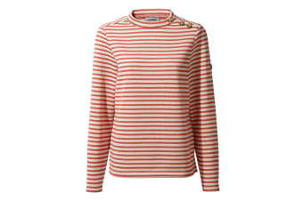 Craghoppers Womens/Ladies Balmoral Crew Neck Long Sleeve Fleece (Alpen Rose Stripe) (16 UK)