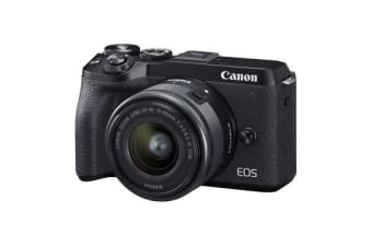 New Canon EOS M6 II with EF-M 15-45mm IS STM Lens Digital SLR Camera Black (FREE DELIVERY + 1 YEAR AU WARRANTY)