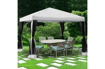 Easy Pop Up Canopy Tent Gazebo with Mesh Side Walls Screen House With Carry Bag