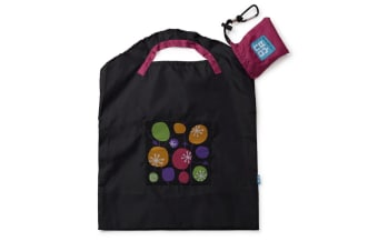 Onya Reusable Shopping Bag Small - Black Retro