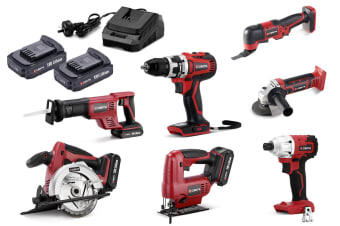 Certa PowerPlus 18V 4.0Ah 7 Piece Set (Brushless Drill & Driver)