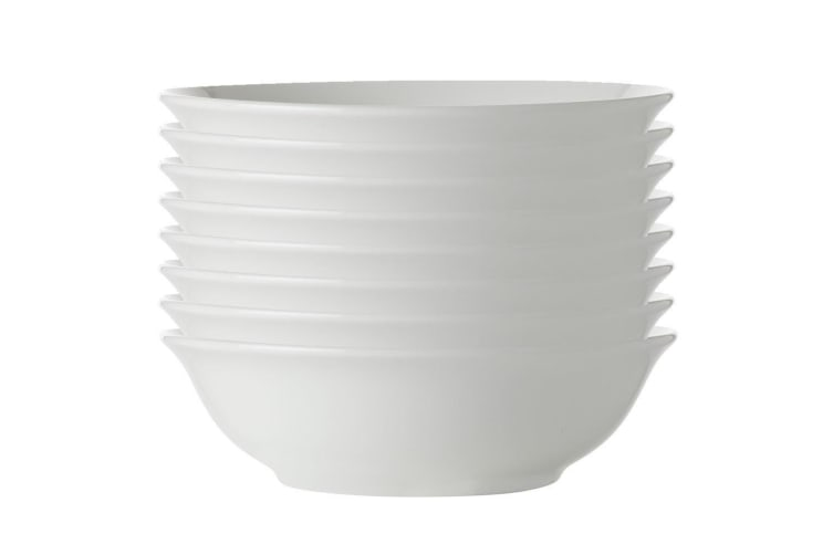 8x Maxwell Williams White Basics Round Soup Cereal Bowl 17.5cm Pasta Rice Noodle