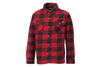 Dickies Mens Padded Long Sleeve Portland Lumberjack Work Shirt (Red)