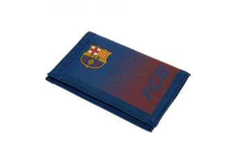 FC Barcelona Fade Design Touch Fastening Nylon Wallet (Blue/Red) (One Size)